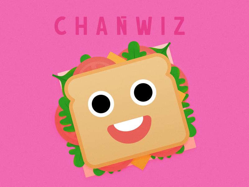 SANDWICH illustration gradation colorful funny sandwich