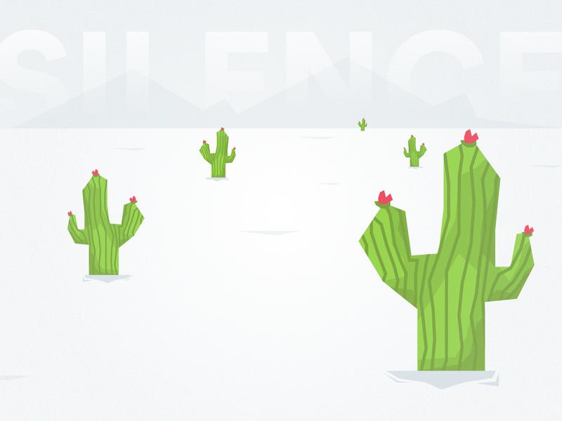 Silence illustration cactus silence quiet desert