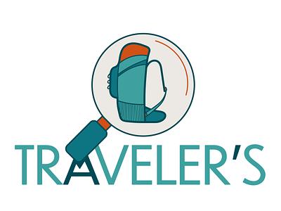 Traveler's - App for travelers application traveler travel design logo illustration illustrator