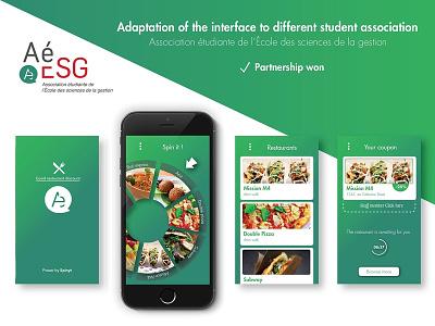 Spinyt - The food app startup illustrator marketing design ux ui
