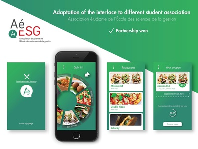 Spinyt - The food app startup illustrator marketing design ux ui