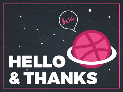 Hello Dribbble thanks hello dribble