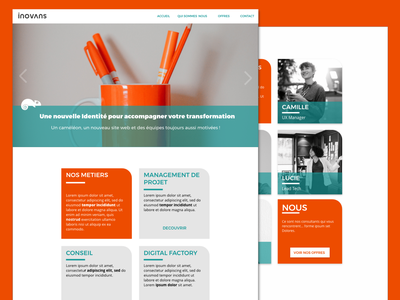 Consulting Agency Website website complementary colors adobe xd