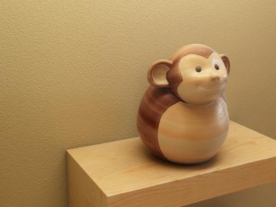 Monkey wood 3d monkey
