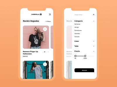 eCommerce App Design - Filters & Catalogue settings filters fashion commerce ecommerce ui mobile store ecommerce app app digital store online store store ecommerce