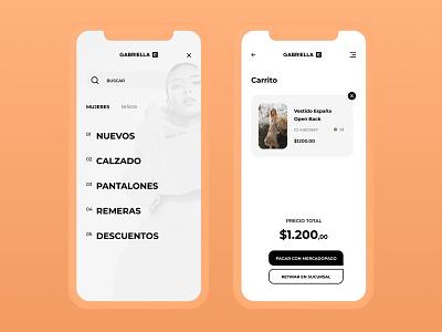eCommerce App Design - Checkout & Menu online store app mobile menu menu checkout store ecommerce