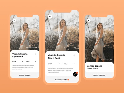 eCommerce App Design - Product item ui carousel card item product ecommerce