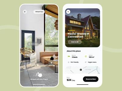 Home Rental Mobile App immersive camera ar ui app renting rental rent house home