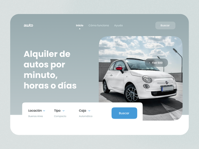 Car Rent Website Landing Page app design promotion car search bar search input branding website landing renting rental car rent