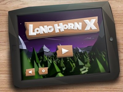 Low poly iPad mock-up