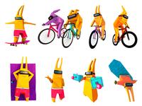 Galactic Rabbits Character Set 🐇