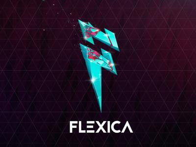Flexica logo stylizing ⚡ antonmoek illustration vectorgraphics vector adobe photoshop lowpoly polygonal digitalart branding logo