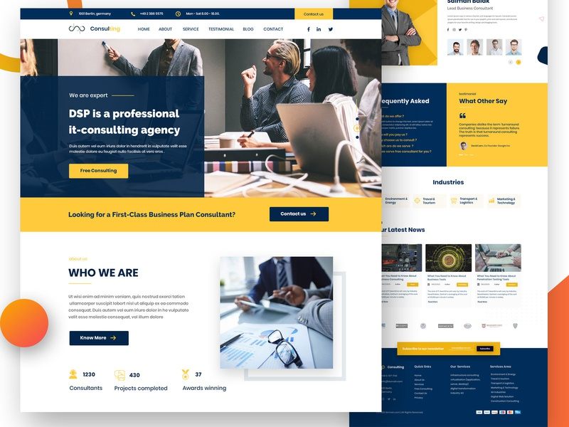 Business Consulting Web Design uxuidesign uxui consulting business responsive webdesign ui web design psd template landing page ux
