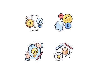 Business idea vector product money design thinking lamp idea business branding icon icons illustration