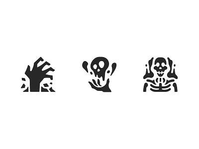Necromancer RPG game icons necromancer logo ui rpg glyph game design illustration icons icon
