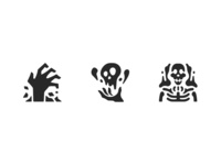 Necromancer RPG game icons