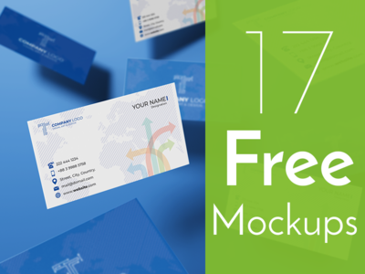 Free Top Notch Business Card Mockup Collection