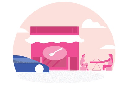 eat illustration design clean car