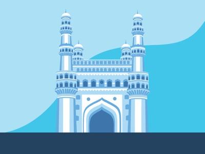 Charminar clean design contrast art illustration