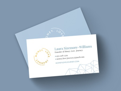 Money. Love. Journey. Business Cards