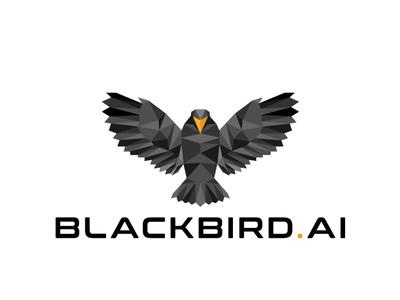 Blackbird bird logo bird black  white vector illustration illustrator digital digital illustration design animal minimal drawing logo poligon