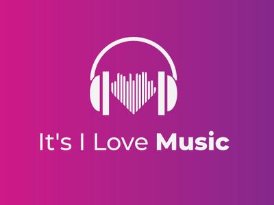 I love music love music vector illustrator digital illustration digital drawing design minimal logo