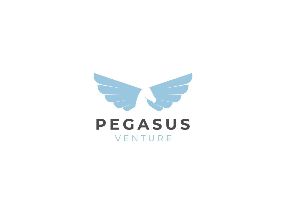 Pegasus blue illustration animal branding vector illustrator digital illustration digital drawing design minimal logo pegasus
