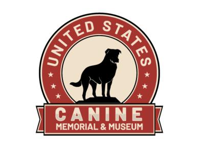 Canine Memorial illustration branding vector illustrator digital illustration digital drawing design minimal logo animal pet dog america united states museum memorial canine