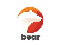 Bear illustration logo design minimal