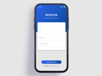 Mobile Sign Up Page
