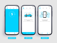 Empty State Car-Sharing Mobile Application