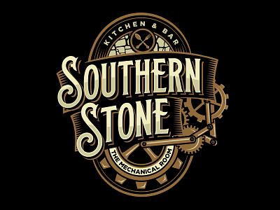 southern stone stone mechanics mechanic steam punk branding vector graphicdesign logodesign classic illustration brand identity vintage logo vintage steampunk