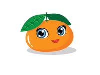 Tangerine cartoon femimine fruit vector vector illustration illustration illustrator cartoon illustration clementine character design cartoon tangerine mascot character mascot