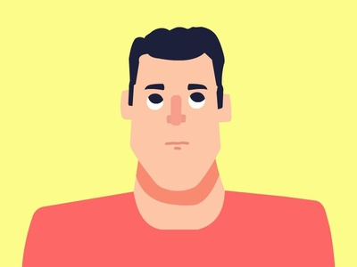 What's up there? vector shape people illustration man flat characters 2d