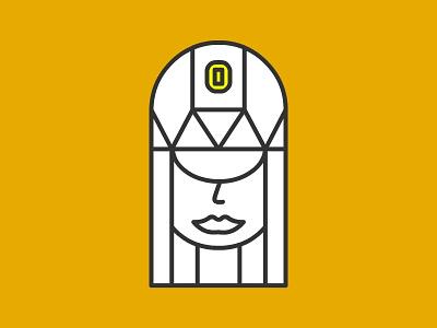 :) Princess flat art vector design logo line art line king illustration human avatar 2d face queen princess
