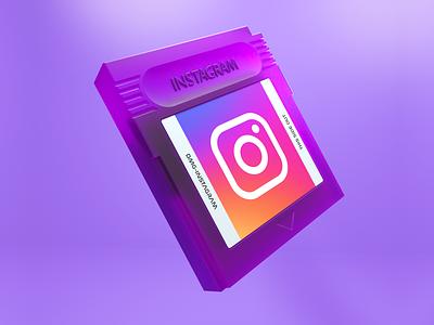 DMG - Insta gameboy instagram 3d octane render