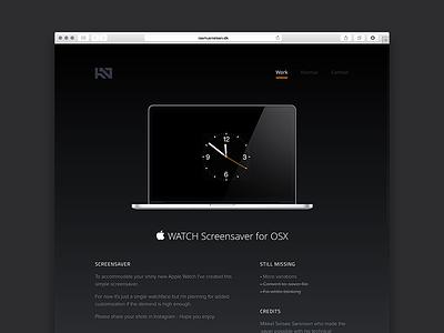 Apple Watch OS X Screen Saver screensaver os x apple watch apple