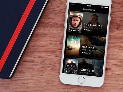 Snapseat ui movies app