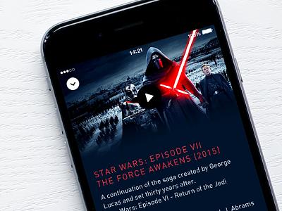Snapseat detail view app ui star wars