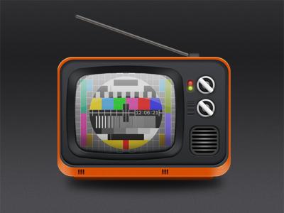 Television #2 television orange icon design