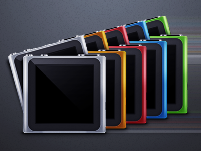 Fast iPod Nano's approaching ipod nano croma icon red blue green orange grey