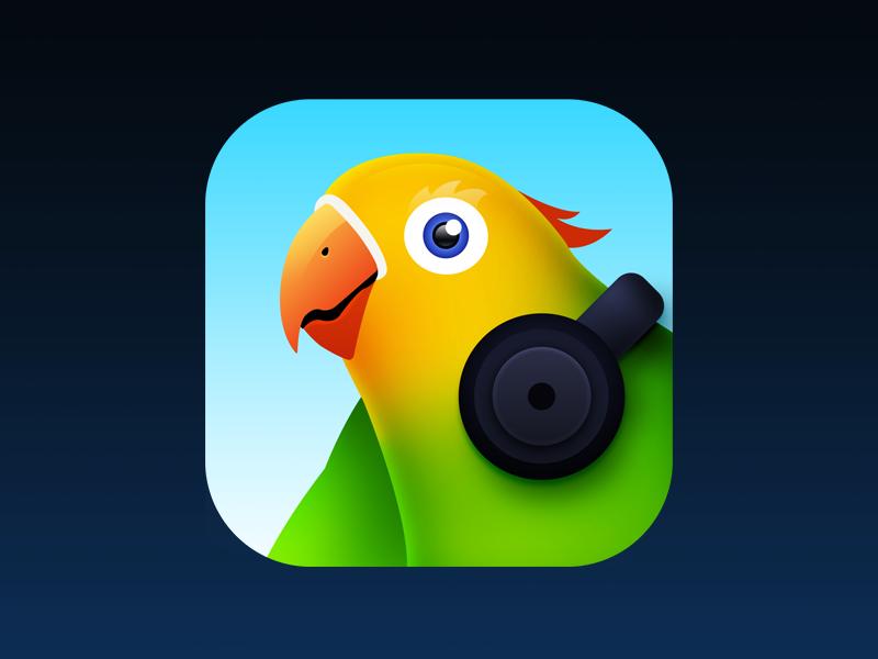 PodParrot illustration ios iphone app icon