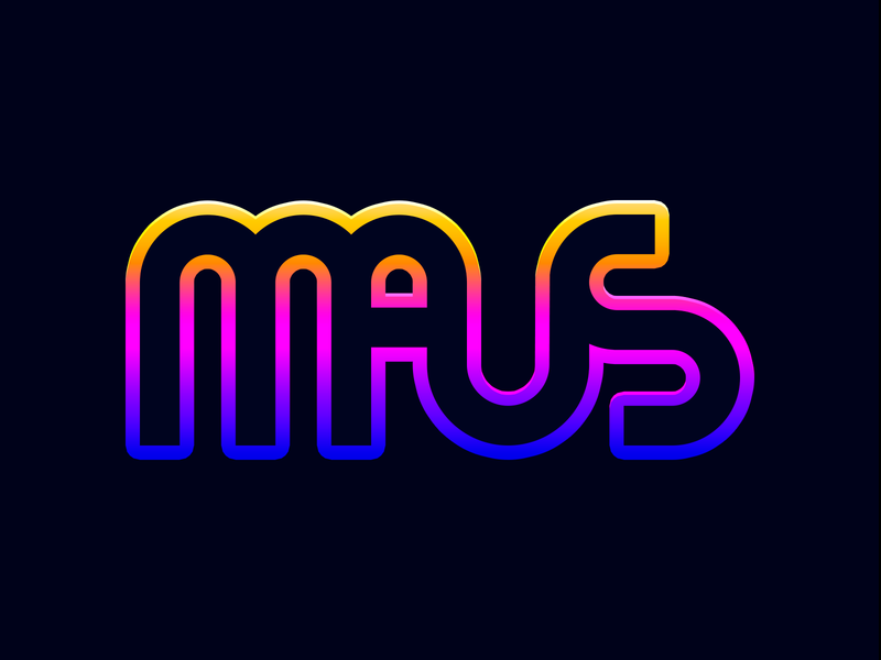What are Elephants afraid of? gradient logo maus