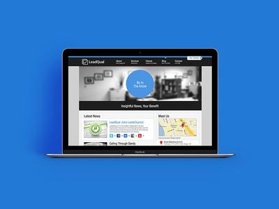 New Company Website Mock