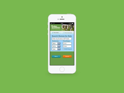 Mobile Web Home Search form responsive mobile bathroom bedroom home