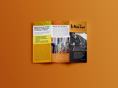 Brochure for Nathan Shapira Design Archive