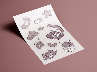 stickers pattern illustration art illustraion illustrator packaging