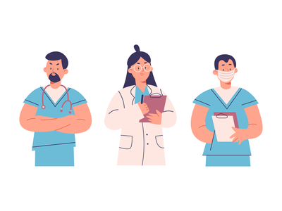 medical colors art cartoon illustration cartoon character cartoon character design characters character vector illustration vectorart vector design concept illustration