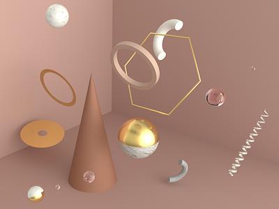 practice concept colors redshift abstract cinema4d 3d 3d art illustration