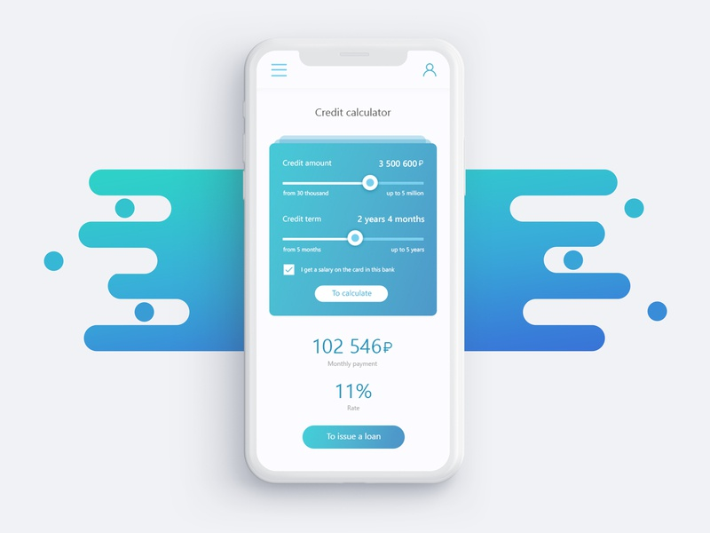Credit Calculator Daily Ui 04 By Arina Dribbble Dribbble